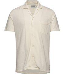 resort shirt terry kortärmad skjorta creme resteröds