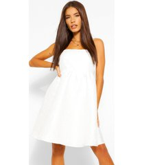 jacquard babydoll jurkje met bandjes, wit