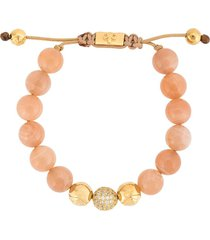 nialaya jewelry moonstone beaded bracelet - pink