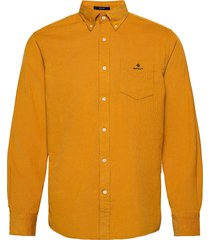 d2. corduroy reg bd overhemd casual goud gant