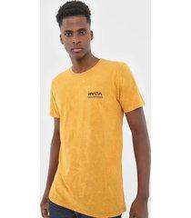 camiseta rvca oval amarela - amarelo - masculino - dafiti