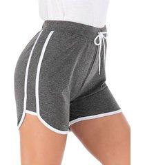 shorts casuales de cintura con cordón