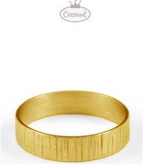 obrączka forest - złocone srebro każdy rozmiar