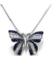 collar mariposa casual azul arany joyas