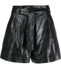 drome flared style shorts - black