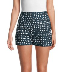 dot-print cotton shorts