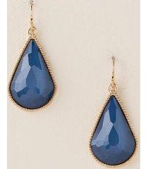 vanessa teardrop earrings in indigo - indigo