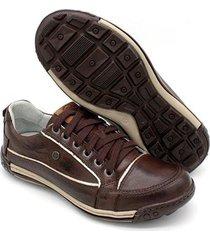 sapatênis porshe em couro bmbrasil casual 114 - masculino