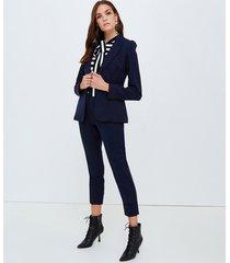 motivi blazer con maniche arricciate donna blu