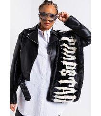 akira trapstar faux fur rectangle scarf