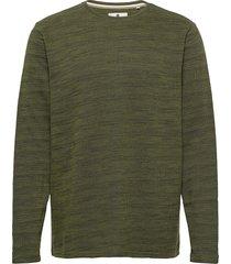 aksail sweat stickad tröja m. rund krage grön anerkjendt