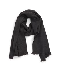 men's canali mixed stitch wool scarf