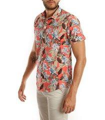 camisa coral frank pierce mc mediterraneo