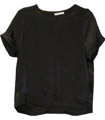 blusa satin negra new jacinta tienda