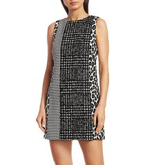 clyde patchwork shift dress