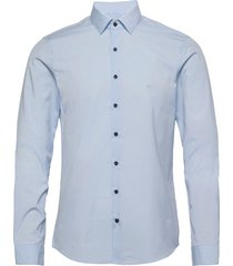 contrast flower slim shirt overhemd business blauw calvin klein