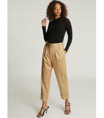 reiss aurellie - semi-sheer slim-fit top in black, womens, size xl
