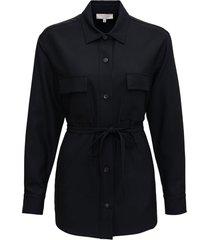 antonelli cloe jacket in black wool blend