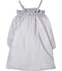 brunello cucinelli striped teen midi dress