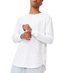 men's longline scoop long sleeve t-shirt
