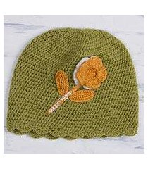 alpaca blend hat, 'sweet blossom' (peru)