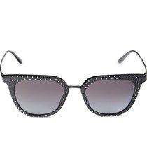 dolce & gabbana women's 50mm square sunglasses - black white