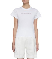 slogan organic cotton t-shirt