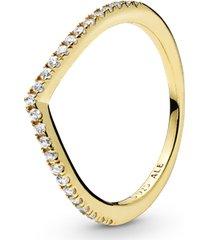 anel pandora shine™ chevron brilhante