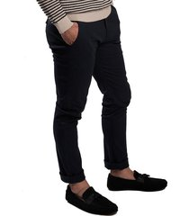 pantalon azul oscuro oscar de la renta b9pnt04-nv/blz