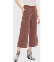pantalón vero moda fallulah nw culotte marrón - calce holgado