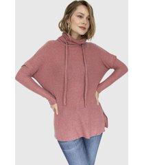 sweater canguro tela panal agnes rosado racaventura