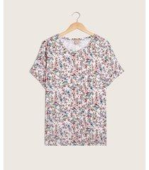blusa estampada manga corta con doblez