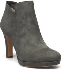 woms boots - lycoris shoes boots ankle boots ankle boot - heel grå tamaris