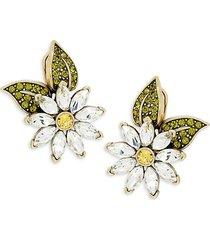 heidi daus women's fun flower crystal earrings