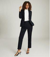 reiss hayes - wool blend slim fit blazer in navy, womens, size 12