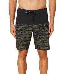 men's o'neill hyperfreak nomad board shorts, size 36 - green