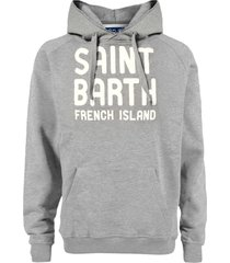grey hooded sweatshirt manhattan