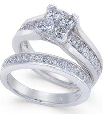 diamond composite bridal set (1-1/2 ct. t.w.) in 14k white gold or 14k yellow gold