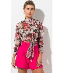 akira garden of versailles tie front blouse