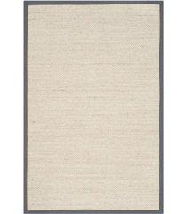safavieh natural fiber marble and dark gray 4' x 6' sisal weave area rug