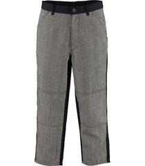 comme des garçons shirt prince of wales check wool trousers