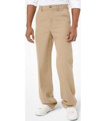 mk pantalone in gabardine di lana - cachi (naturale) - michael kors