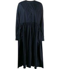 casey casey oversized shirt dress - blue