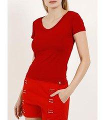 blusa manga curta lnd autentique feminina