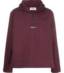 ambush logo zipped hoodie - purple