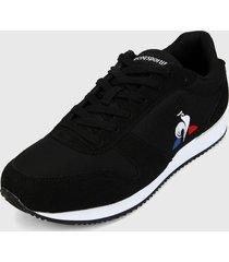 tenis lifestyle negro-blanco-rojo le coq sportif matrix