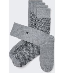 river island mens grey rr monogram socks 5 pack
