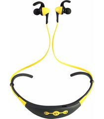 audífonos bluetooth estéreo hd manos libres deportivos, más recientes bt-54 inalámbrico bluethooth auricular reducción de ruido deportivo (amarillo)