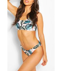 mix & match tropical bikini brief, white
