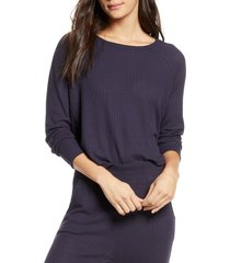 women's honeydew intimates sneak peak sleep shirt, size large - blue